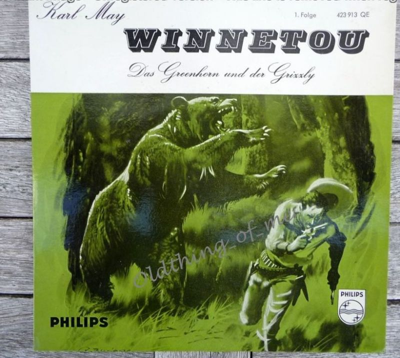 Winnetou Karl May 1.Folge Single Vinyl Schallplatte 7\\\\\\\