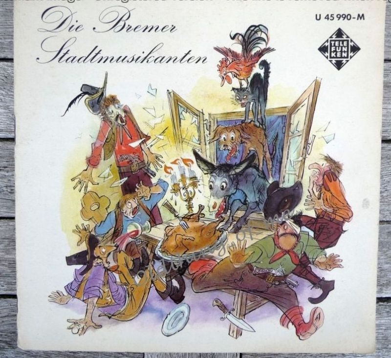 Die Bremer Stadtmusikanten Single Vinyl Schallplatte 7\