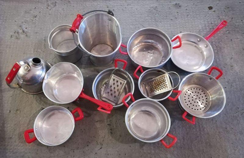 Kinderküchenset aus Aluminium 13-teilig Kinderküche