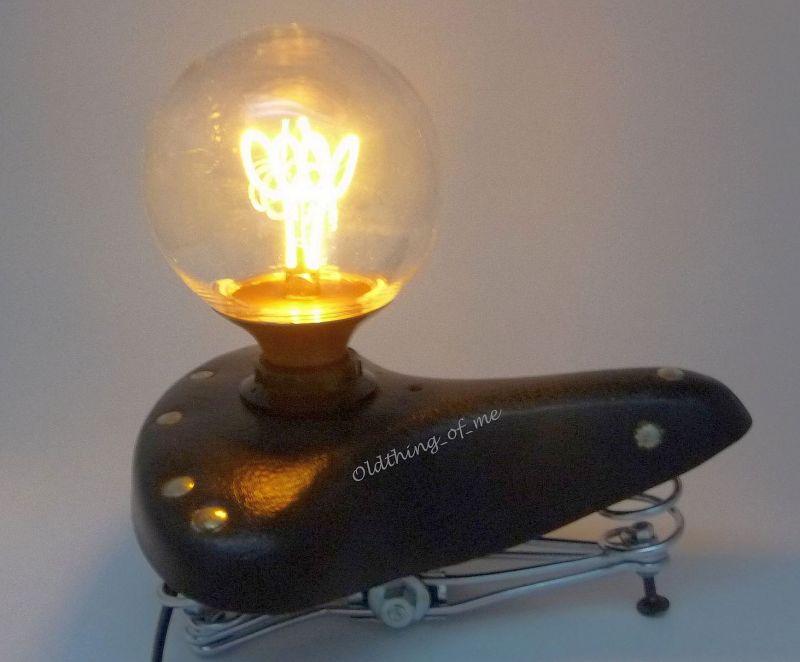 Tischlampe Fahrradsattel 1