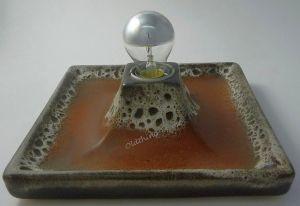 Wandlampe Fat Lava dicke Glasur Mid Century Vintage