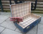 Koffer Hundekoffer 55x33x20 taubenblau Deco