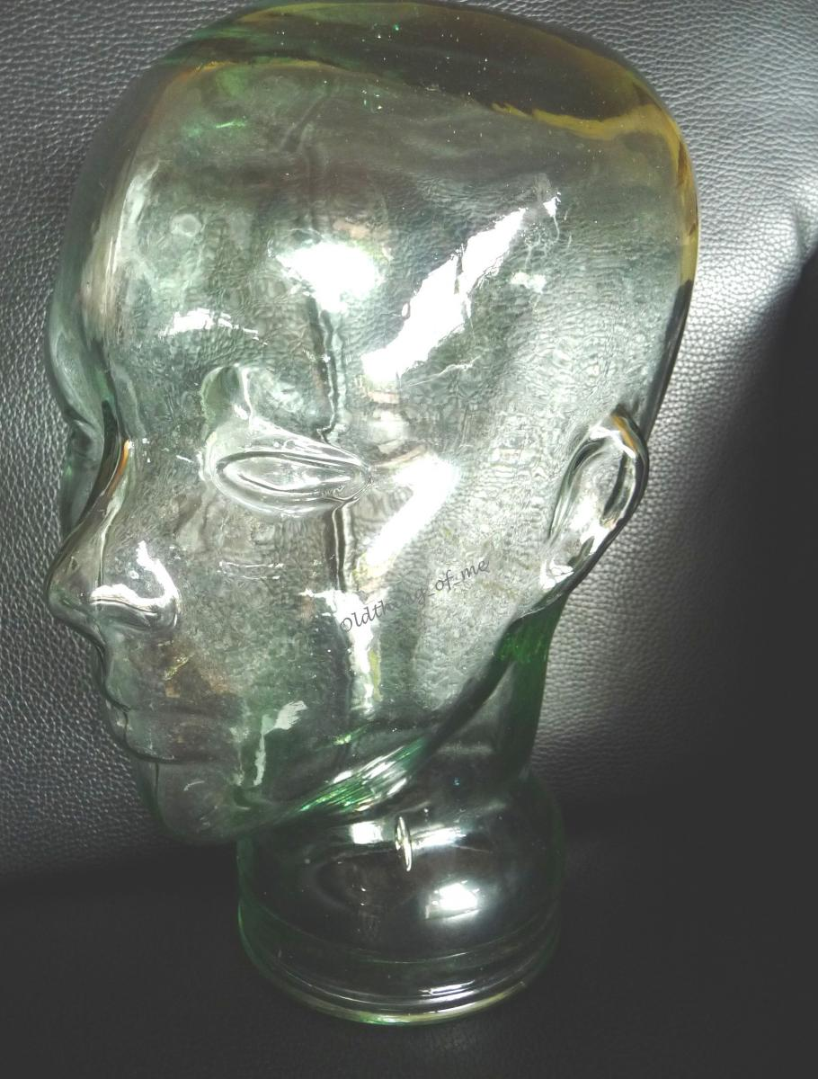 Glaskopf transparent mit Ohren 1