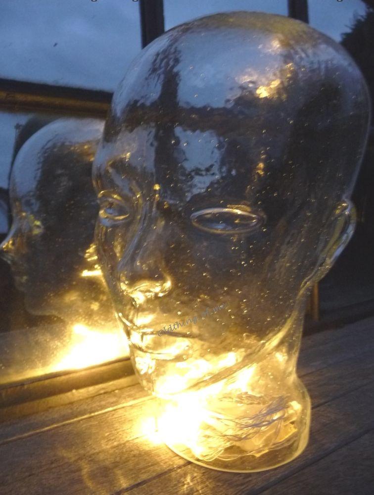 Glaskopf transparent mit Ohren 2
