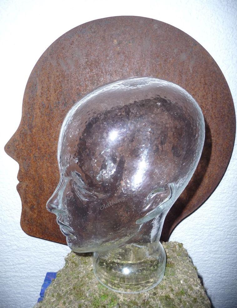 Glaskopf transparent mit Ohren 3