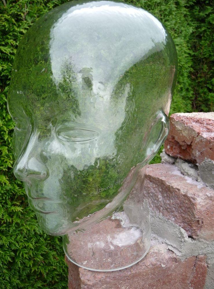 Glaskopf transparent mit Ohren 4