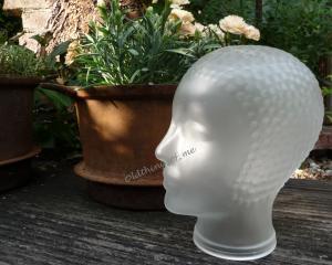 Glaskopf milchig mit Haarstruktur Minipli