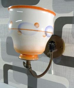 Wandlampe aus den 50 er mit Schnurschalter