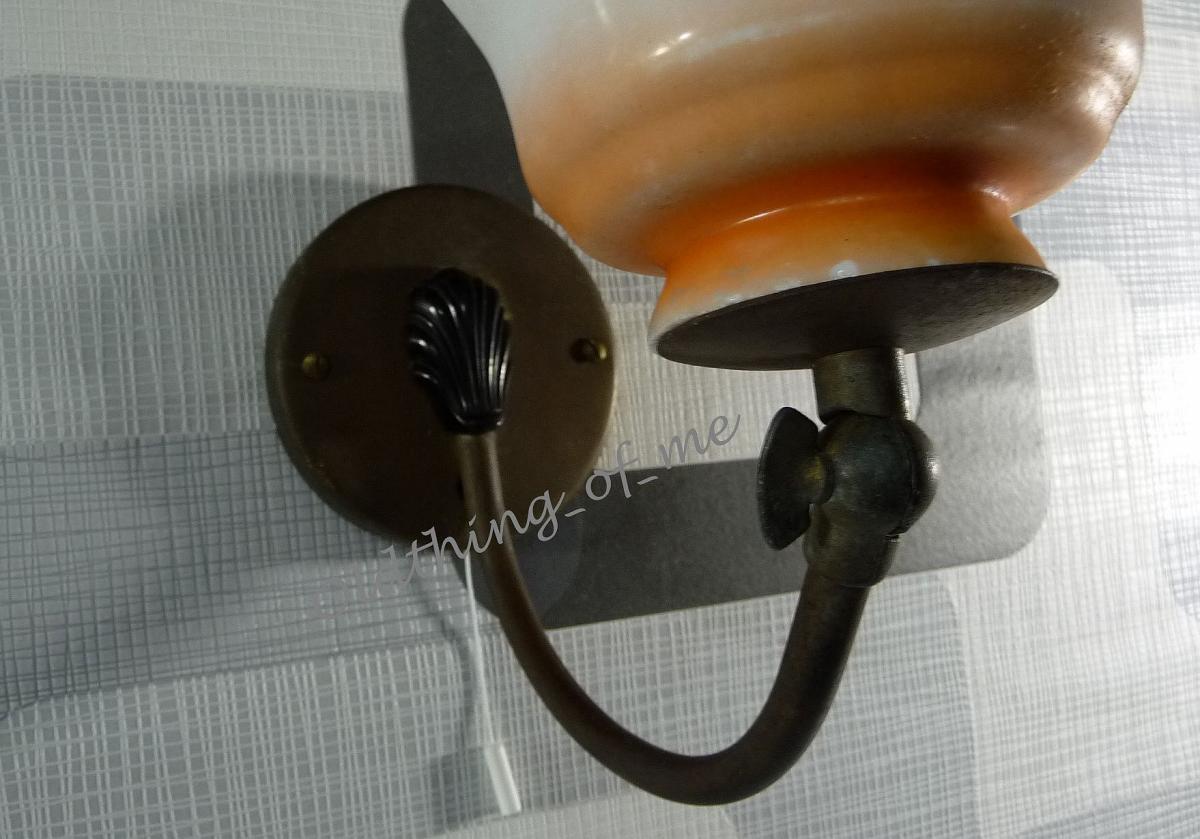 Wandlampe aus den 50 er mit Schnurschalter 2