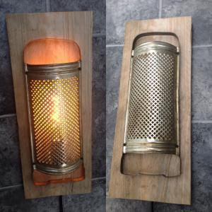 Wandlampe Reibe mit LED