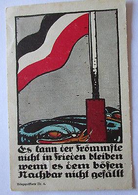 Geburtstag,  Blumen, Kleeblatt, Jugendstil,  1907, Prägekarte ♥  (1408)