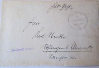 Feldpost 2. Weltkrieg, 1939, Feldpostnummer 18786 (21174) 0