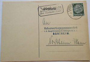 D.Reich, Landpoststempel Imbshausen über Northeim (25364)