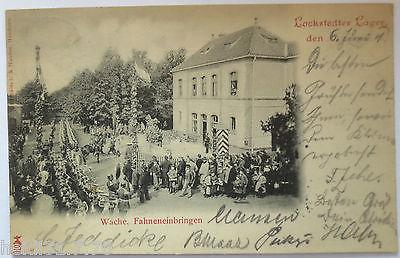 Lockstedter Lager,Wache, Fahneneinbringen, 1901 nach Büsum (28897)
