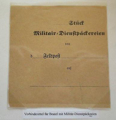 Krieg 1870-1871, Vorbindezettel für Militär-Dienstpäckereien, Feldpost (31044)
