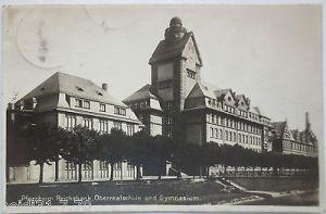 Pforzheim, Reichsbank, Realschule, Gymnasium, Fotokarte (19765)
