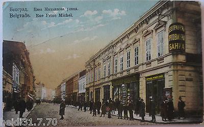 Serbien,  Belgrad, Rue Princ Michel, Feldpoststation 25 (6338)