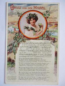 Gruß von der Mosel, Loreley, ca. 1914 (37108)
