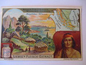 Liebig Sammelbild, Indianer, Patagonier, Feuerland (41414) 0