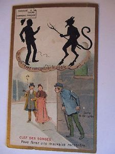 Sammelbild Chocolats Schaal, Strassburg, Teufel und Räuber (20623) 0