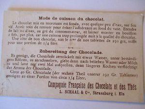 Sammelbild Chocolats Schaal, Strassburg, Teufel und Räuber (20623) 1