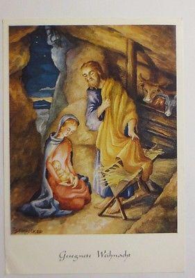 Bilder Weihnachten Krippe.Weihnachten Heilige Krippe Heilige Familie 1959 J Schricker 42045