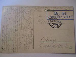 Gruß aus Spandau, Bahnhofsplatz, Juliusturm u.a., Feldpost 1915 (18949) 1