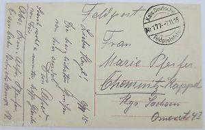 Serbien, Versecz, Honvedkaserne, Feldpoststation 177, 1915 nach Chemnitz (33842) 1