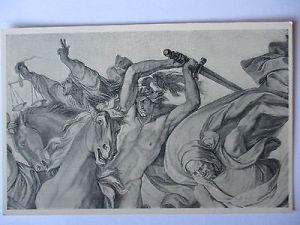 Künstlerkarte Peter Cornelius, Krieg Tod und Teuerung (40652)
