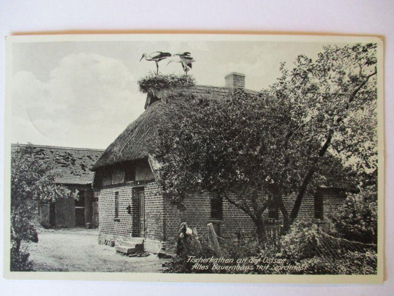 Polen, Pommern, Pogorzelica Fischerkathen, 1938  (7513)