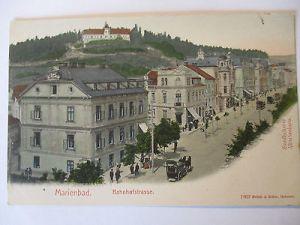 Österreich-Tschechien, Sudetenland, Marienbad, Bahnhofstrasse (28142)