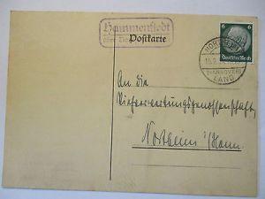 D.Reich, Landpoststempel Mammenstedt, Hannover Land 1934 (11599)