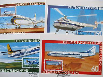 Berlin, Luftfahrt, Für die Jugend 1980, Maximumkarten (49407)