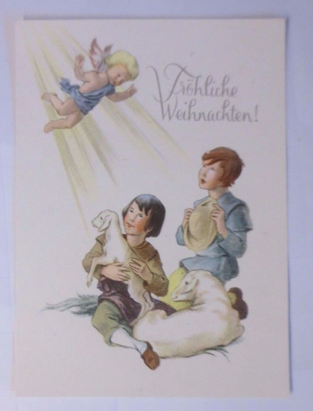 Weihnachten, Kinder, Hirte, Engel, Schafe\
