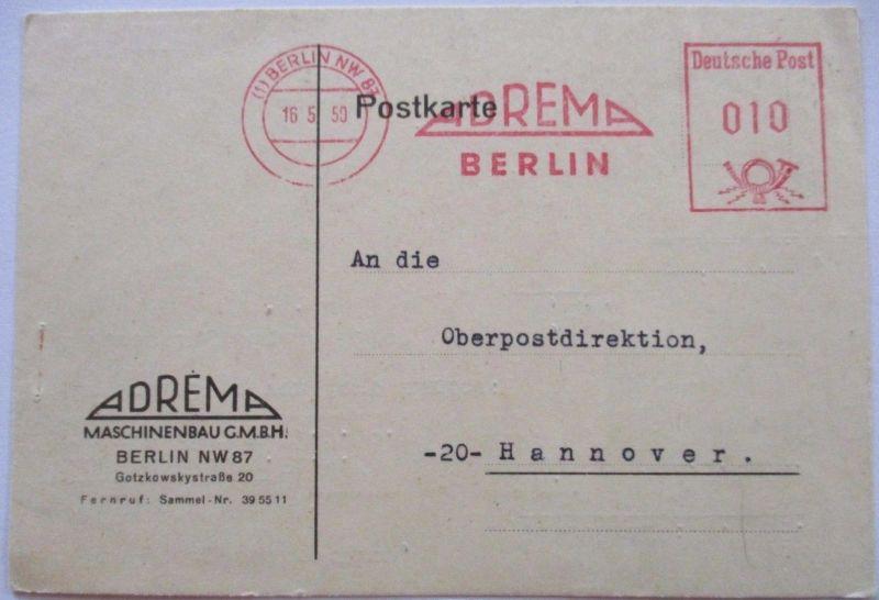Berlin, Freistempel 1950, Maschinenbau Adrema (37099)