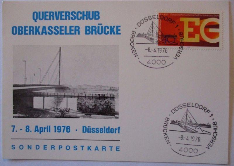 Düsseldorf 1976, Querverschub der Oberkasseler Brücke (52331)