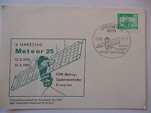 Raumfahrt, Weltraum, 5. Jahrestag Meteor 25, DDR 1981 (49256)