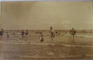 Meer, Strand, Baden, Fotokarte Ostende 1931 (18210)