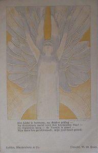Künstlerkarte Willy Sluiter, Het Licht, Jugendstil, ca. 1900 (49090)