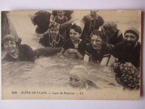 Meer, Strand, Baden, Bademode, ca. 1930 (37803)