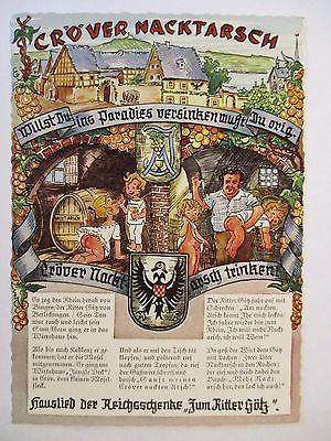 Cröv, Mosel, Reichsschenke Zum Ritter Götz, Wein, Cröver Nacktarsch (44618)
