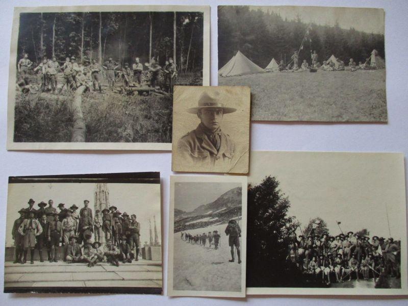 Pfadfinder, Boy Scouts, Foto-Nachlaß mit 70 original Fotos, oft mit Beschriftung
