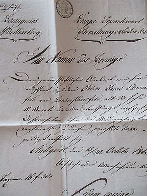 Königreich Württemberg 1815, Kriegs-Departement, Brief (37653)