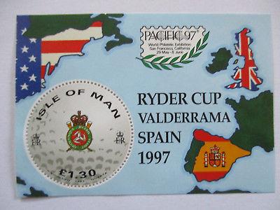 Isle of Man, Block 29 Golf Ryder Cup, Satz und Block postfrisch (26980)
