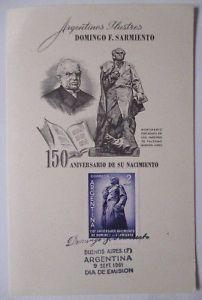 Argentinien, Maximumkarte Domingo Sarmiento 1961 (38227)