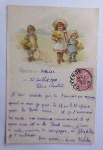 Künstlerkarte, Frauen, Männer, Mode, Abschied, 1911, Munk Vienne  ♥ (58951)