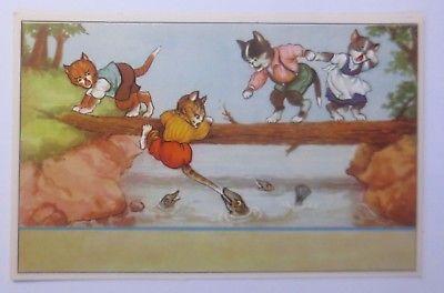 Personifiziert, Katzen, Fische, Klettern,      1920 ♥ (59192)