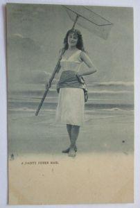 Meer, Strand, Baden, Bademode, Frau mit Netz, Köcher, Tuck´s Seaside (34646)