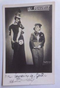 Circus, Varietrè, Clown, Les Fonvielle, Fotokarte, sig.Paul Koruna Paris (58251)
