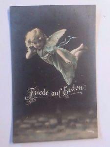 Weihnachten, Engel, Friede auf Erden,      1916, Feldpost ♥  (59050)